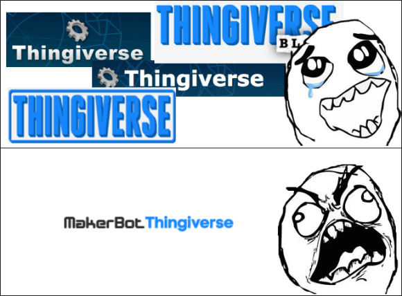 makerbot thingiverse logo rage comic